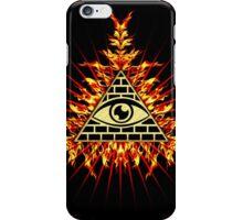 All Seeing Eye Of God, Flames - Symbol Omniscience iPhone Case/Skin