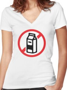 No milk - no dairy Women's Fitted V-Neck T-Shirt