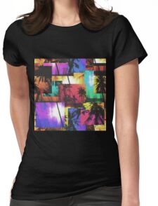 tropical palm trees Womens Fitted T-Shirt