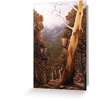 Valley Morning Dew Greeting Card