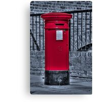 British Red Postbox Canvas Print