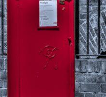 British Red Postbox Sticker