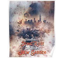 Derrick Rose Chicago to New York Garden Artwork Basketball Poster