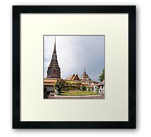 Wat Pho, the Temple of Reclining Buddha in Bangkok, Thailand Framed Print