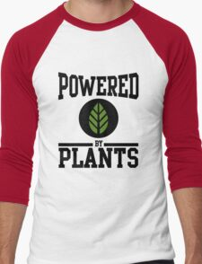 Powered by Plants Men's Baseball ¾ T-Shirt