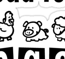 Proud to be vegan Sticker
