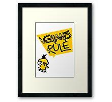 Vegans rule Framed Print