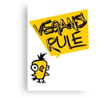 Vegans rule Canvas Print