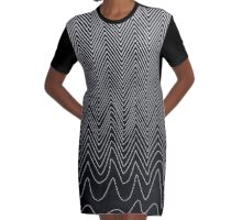 Good Vibrations Graphic T-Shirt Dress