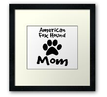 American Foxhound Mom Framed Print