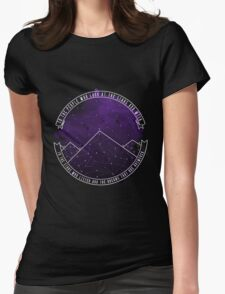 Look At The Stars And Wish | Night Court Womens Fitted T-Shirt
