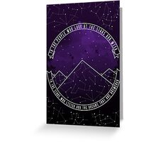 Look At The Stars And Wish | Night Court Greeting Card