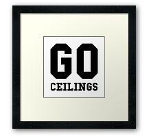 Go Ceilings Fan Framed Print