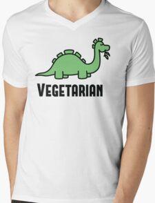 Vegetarian Mens V-Neck T-Shirt