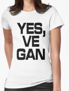 Yes, vegan! Womens Fitted T-Shirt