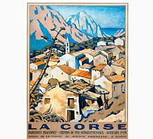 La Corse, Travel Poster French railways Unisex T-Shirt