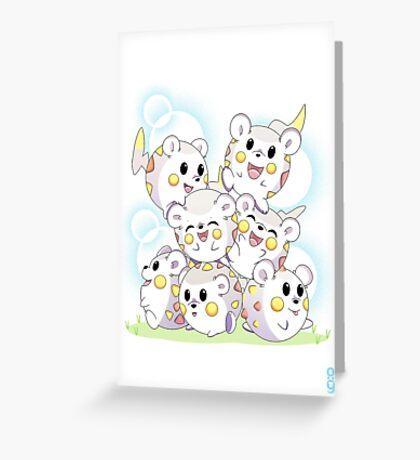 Pile of togedemaru Greeting Card