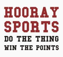Hooray Sports Win Points One Piece - Short Sleeve