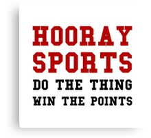 Hooray Sports Win Points Canvas Print