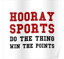 Hooray Sports Win Points Poster