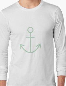 Mint Nautical Anchor Long Sleeve T-Shirt