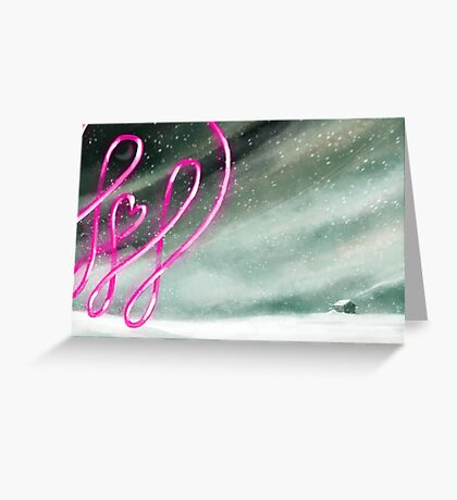 Pinky comes to visit.  Greeting Card
