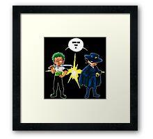 Zoro et Zorro ! Framed Print