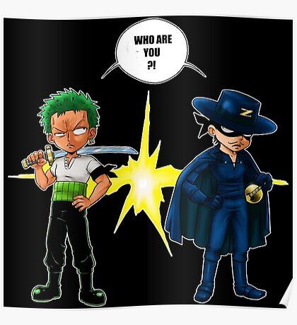 Zoro et Zorro ! Poster