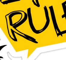 Vegans rule Sticker