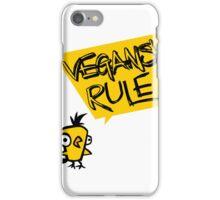 Vegans rule iPhone Case/Skin
