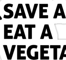 Save a cow, eat a vegetarian Sticker