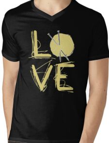 I Love Knitting - I Love Knitting Shirt Mens V-Neck T-Shirt