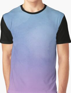 Blue Fade To Purple - Abstract Watercolor Graphic T-Shirt