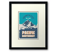 Pacific Northwest. Framed Print