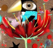 Crazy Eyes Penguin Sticker