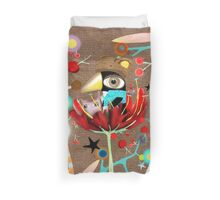 Crazy Eyes Penguin Duvet Cover