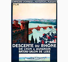 Descente du Rhône, French Travel Poster Unisex T-Shirt