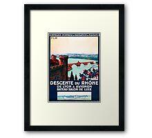Descente du Rhône, French Travel Poster Framed Print