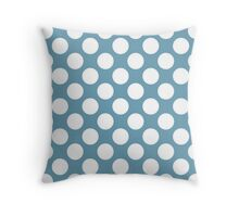 Jade with White Polka Dots Throw Pillow