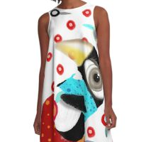Bed of Roses Happy Penguin A-Line Dress