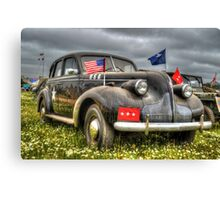 Classic Military Staff Car Canvas Print
