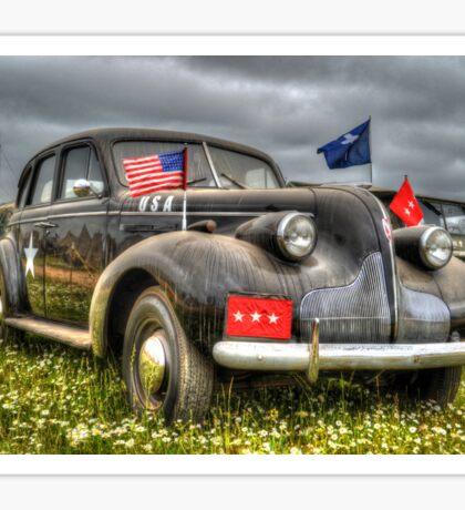 Classic Military Staff Car Sticker