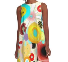 Abstract Mixed Media Art A-Line Dress