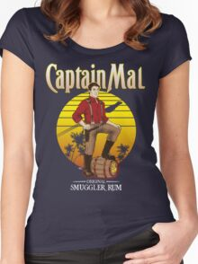 Captain Mal Smuggler Rum Women's Fitted Scoop T-Shirt