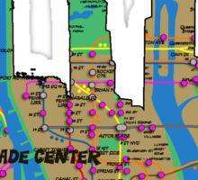 subway map new York city world trade center skyline Sticker