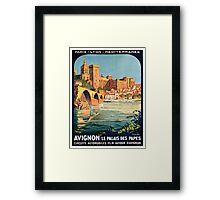 Avignon, French Travel Poster Framed Print
