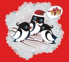 Winter Birds Christmas Wish - Cute Tee Kids Tee