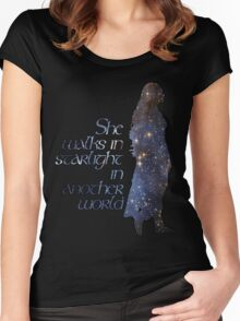 She walks in Starlight... Women's Fitted Scoop T-Shirt