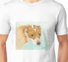 Red Nosed Pit Bull Dog Cathy Peek Animal Art Unisex T-Shirt