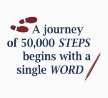 50,000 words, 50,000 steps Kids Tee